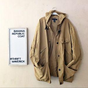Light Weight Khaki Utility Coat | Banana Republic